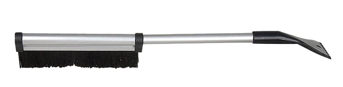 Щетка для снега Sapfire, со скребком и телескопической ручкой, цвет: черный, 42-64 см0411-SBU_черныйЩетка Sapfire предназначена для удаления снега и льда. Имеет легкую поворотную телескопическую рукоятку из прочного алюминиевого сплава. Удобная выдвижная рукоятка облегчает процесс чистки крыши автомобиля. Мягкая щетина, изготовленная из прочного полимера, бережно удаляет снег, не царапая лакокрасочное покрытие. Щетка оснащена мощным скребком с зубьями для толстого льда. Ширина скребка: 9,5 см. Длина рабочей части щетки: 25,5 см. Максимальная длина щетки: 64 см. Минимальная длина щетки: 42 см.