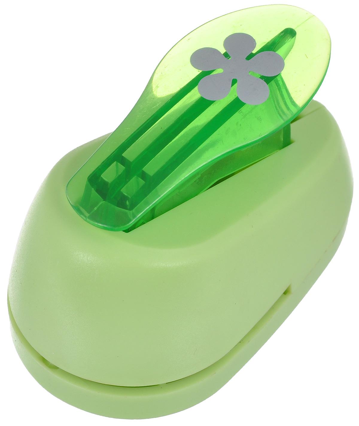 Дырокол фигурный Hobbyboom Роза, цвет: зеленый, №199, 1,8 смCD-99S-199_роза, салатовыйФигурный дырокол Hobbyboom Роза, изготовленный из прочного металла и пластика, поможет вам легко, просто и аккуратно вырезать много одинаковых мелких фигурок. Режущие части дырокола закрыты пластиковым корпусом, что обеспечивает безопасность для детей. Предназначен для бумаги плотностью - 80 - 200 г/м2. Рисунок прорези указан на ручке дырокола. Размер дырокола: 7 см х 4 см х 5 см. Диаметр готовой фигурки: 1,8 см.