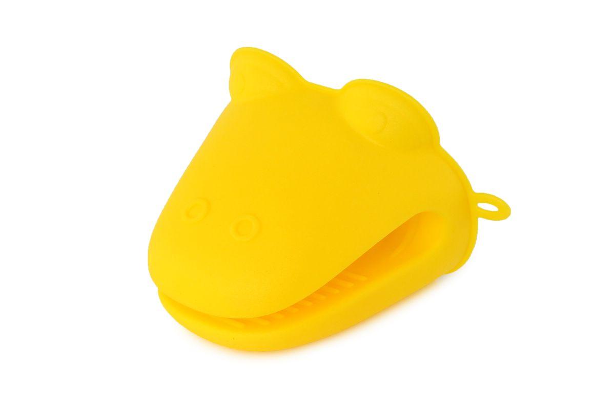 Прихватка Elan Gallery Лягушка, цвет: желтый, 10 х 11 х 4,5 см590007Силиконовая прихватка Elan Gallery Лягушка, выполненная в виде забавной лягушки, позволяет защитить ладонь и пальцы от нежелательного воздействия высоких температур. Ребристая поверхность предотвращает скольжение. Выдерживает резкие перепады температур от -40°C до +240°C. Такое изделие станет отличным подарком для домохозяйки.