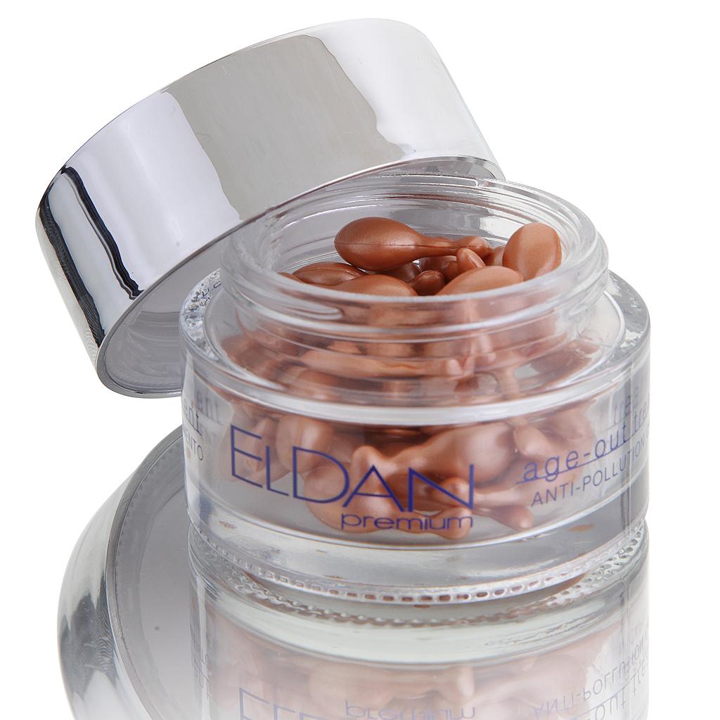 ELDAN cosmetics Антиоксидантные капсулы для лица Premium age out treatment, 50 штELD-48Капсулы с нежной текстурой для активной профилактики первых признаков старения. Содержат токотриенол - натуральное производное витамина Е, которое по своей антиоксидантной активности в 40-60 раз превосходит токотриенол. Средство нейтрализует действие свободных радикалов, способствует синтезу собственного коллагена, укрепляя коллагено-эластиновый каркас дермы, улучшает тургор и эластичность кожи. За счет входящих в состав фитостеролов оказывают заметный омолаживающий эффект, запуская процессы регенерации. Благодаря своей пудрообразной текстуре капсулы придают коже бархатистость и выравнивают цвет лица, являются идеальной базой под макияж.