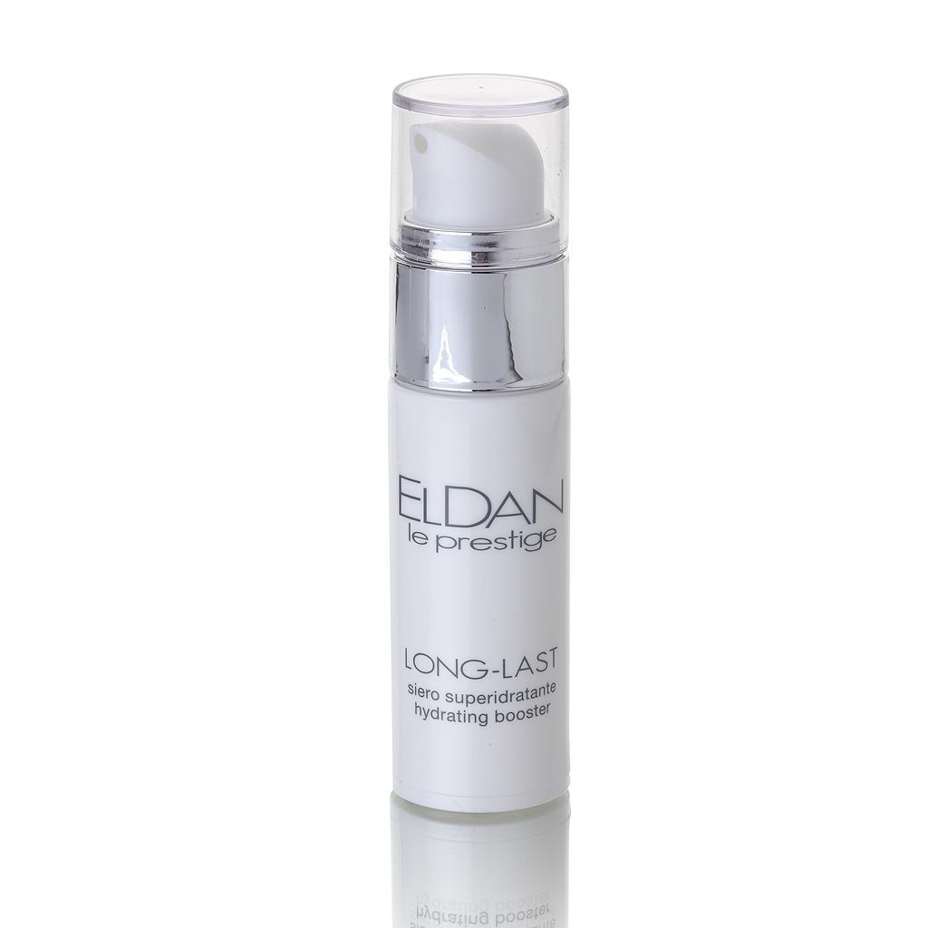ELDAN cosmetics Флюид-гидробаланс для лица с эктоином Le Prestige, 30 млELD-94Препарат обеспечивает длительное увлажнение и восстановление гидро-липидной мантии. Содержит гамму активных ингредиентов: эктоин, Bioami Skin, пантенол, которые способствуют комфорту и балансу увлажненности кожи в течение 24 часов. Эктоин относится к новому классу антиоксидантов в anti-age косметике, принимает участие в метаболизме клеток кожи и защищает их от старения, связанного, прежде всего, с негативным влиянием окружающей среды. Он обладает огромным потенциалом для стабилизации и защиты клеточных мембран и иммунной системы кожи, является «магнитом» для воды. Увлажняющее действие флюида усиливается низкомолекулярным аналогом гиалуроновой кислотой (Bioami Skin), которая не только удерживает влагу на поверхности эпидермиса, но и проникает глубоко в дерму, повышая ее влагоудерживающую способность и разглаживая морщины. Флюид-гидробаланс идеален для чувствительной кожи, разработан и протестирован с целью минимизировать риск возникновения аллергии, является прекрасной базой под макияж.