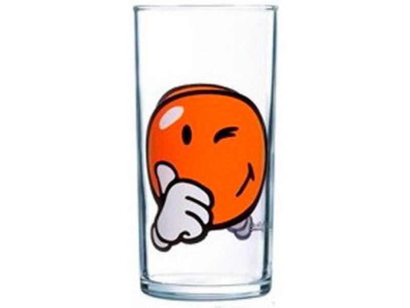 Стакан Luminarc Smiley World First, 270 млH4443Стакан Luminarc Smiley World First изготовлен из высококачественного стекла. Такой стакан прекрасно подойдет для различных напитков. Он дополнит коллекцию вашей кухонной посуды и будет служить долгие годы. Можно использовать в посудомоечной машине и СВЧ. Диаметр стакана (по верхнему краю): 6 см. Высота: 12 см.