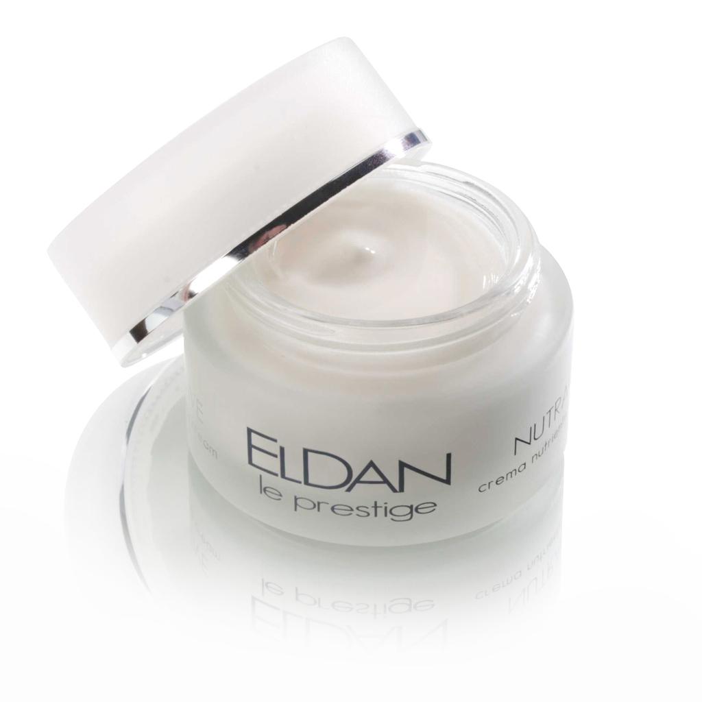 ELDAN cosmetics Питательный крем для лица с рисовыми протеинами Le Prestige, 50 млELD-12Крем обладает хорошими питательными, успокаивающими и увлажняющими свойствами. Способствует восстановлению каппиляров, укрепляет их стенки и уменьшает проявлеие диффузной красноты. Стимулирует регенерацию клеток, нейтрализует действие свободных радикалов, повышает тургор и эластичность кожи, обеспечивает профилактику купероза.