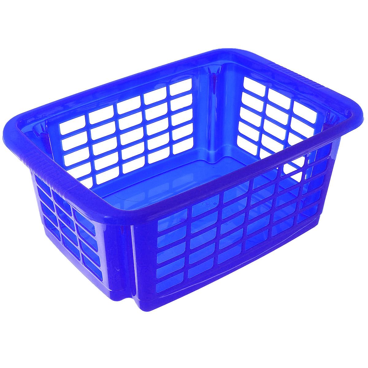 Корзина для хранения Dunya Plastik Стакер, цвет: синий, 12 л. 55075507_синийКлассическая корзина Dunya Plastik Стакер, изготовленная из пластика, предназначена для хранения мелочей в ванной, на кухне, даче или гараже. Позволяет хранить мелкие вещи, исключая возможность их потери. Это легкая корзина со сплошным дном и перфорированными стенками. Корзина имеет специальные выемки внизу и вверху, позволяющие устанавливать корзины друг на друга.