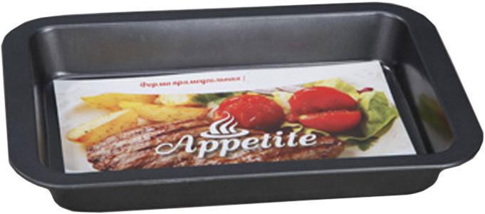 Форма для выпечки Appetite, прямоугольная, с антипригарным покрытием, 36 см х 23 смSL2005Форма Appetite выполнена из углеродистой стали. Антипригарное покрытие обеспечивает моментальное снятие выпечки с противня, а также его легкую очистку после использования. Экологически безопасное покрытие не содержит перфлюоро-октановой кислоты. Высокая теплопроводность способствует быстрому приготовлению пищи. Форма выдерживает температуру до 230°C. Подходит для использования в духовке. Можно мыть в посудомоечной машине. Использовать только пластиковые, деревянные или силиконовые аксессуары. С такой формой вы всегда сможете порадовать своих близких оригинальной выпечкой. Размер формы (без учета ручек): 32 см х 20 см. Размер формы (с учетом ручек): 36 см х 23 см. Высота стенки: 4,5 см.