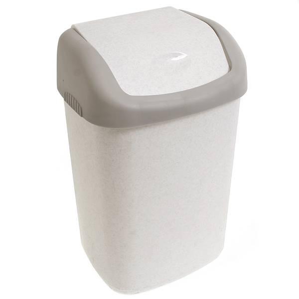 Контейнер для мусора Полимербыт, 14 л. С327С327Контейнер для мусора Полимербыт изготовлен из высококачественного прочного пластика. Предназначен для хранения мусора. Специальная подвижная крышка позволяет удобно выбрасывать мусор. Изделие прекрасно впишется в интерьер дома или офиса. Практичное и полезное приобретение в хозяйстве.