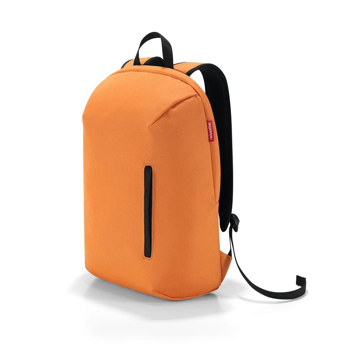Рюкзак Reisenthel, цвет: оранжевый. RC2019RC2019Практичный рюкзак Reisenthel изготовлен из качественного полиэстера. Изделие содержит одно вместительное отделение, которое закрывается на застежку- молнию. Внутри расположен мягкий карман для ноутбука на липучке. Снаружи, на лицевой стороне рюкзака, расположен врезной карман на молнии. Рюкзак дополнен петлей для подвешивания и двумя широкими лямками, длина которых регулируется при помощи пряжек. Стильный рюкзак Reisenthel вместит в себя все необходимое и прекрасно дополнит ваш образ.