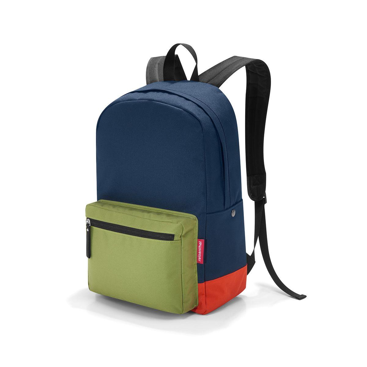 Рюкзак Reisenthel, цвет: темно-синий, болотный, оранжевый. TA4042TA4042Стильный рюкзак Reisenthel выполнен из плотного полиэстера. Изделие имеет одно отделение, которое закрывается на застежку-молнию. Внутри находится карман для планшета и прорезной карман на застежке-молнии. Снаружи, на передней стенке находится накладной объемный карман на застежке-молнии. По бокам расположены накладные карманы на кнопках. Уплотненная спинка обеспечивает комфорт при переноске изделия. Рюкзак оснащен удобными анатомическими лямками, которые регулируются по длине, и текстильной ручкой. Стильный рюкзак Reisenthel станет незаменимым в повседневной жизни. Это не только удобный предмет для переноски вещей, но и модный аксессуар.