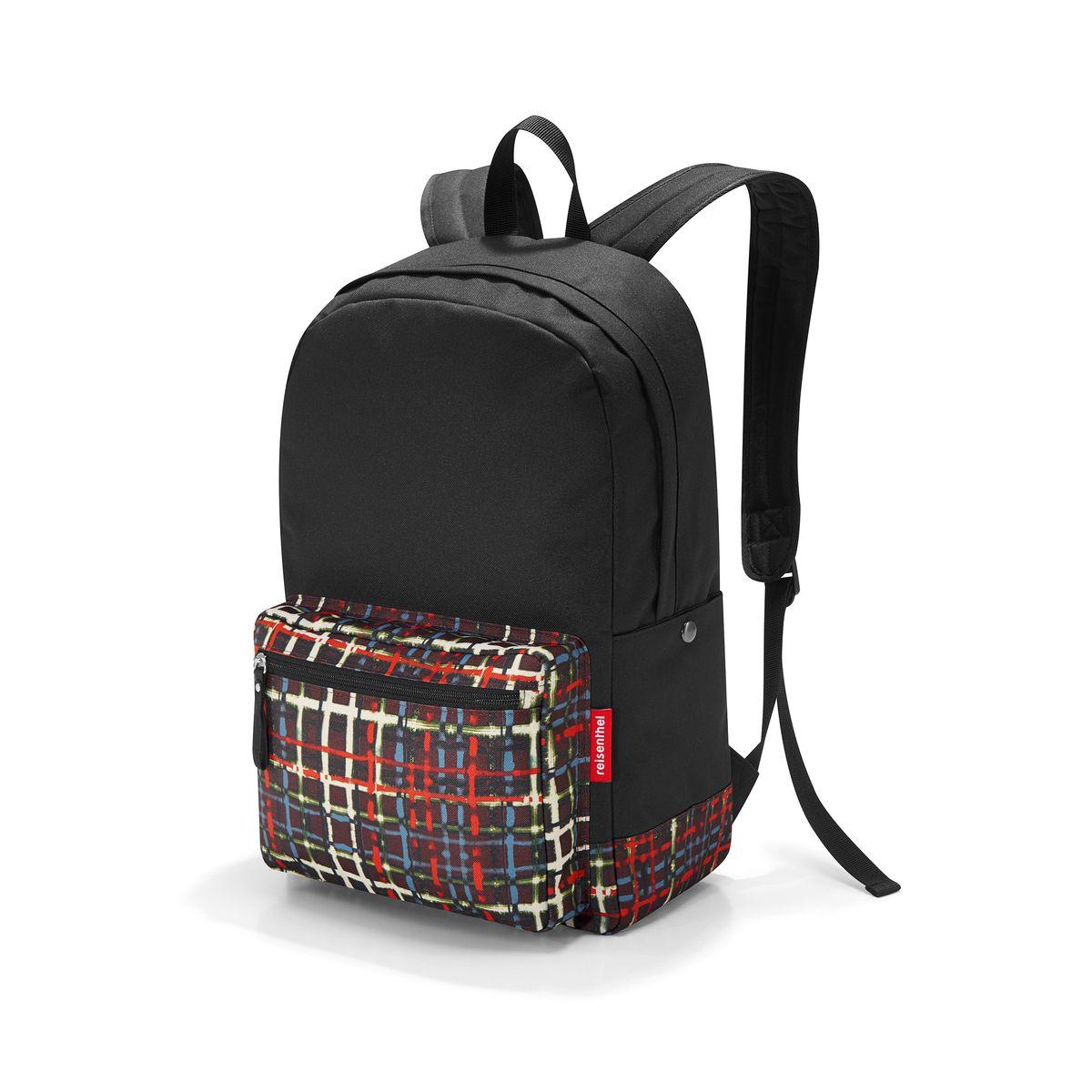 Рюкзак Reisenthel, цвет: черный, мультицвет. TA7036TA7036Практичный рюкзак Reisenthel выполнен из полиэстера и оформлен ярким принтом. Изделие содержит одно вместительное отделение, которое закрывается на застежку-молнию. Внутри расположен накладной карман и врезной карман на молнии. Снаружи, на лицевой стороне рюкзака, расположен накладной карман на молнии. По бокам изделия расположены два дополнительных накладных кармана, которые закрываются на кнопки. Рюкзак дополнен петлей для подвешивания и двумя широкими лямками, длина которых регулируется при помощи пряжек. Стильный рюкзак Reisenthel вместит в себя все необходимое и прекрасно дополнит ваш образ.