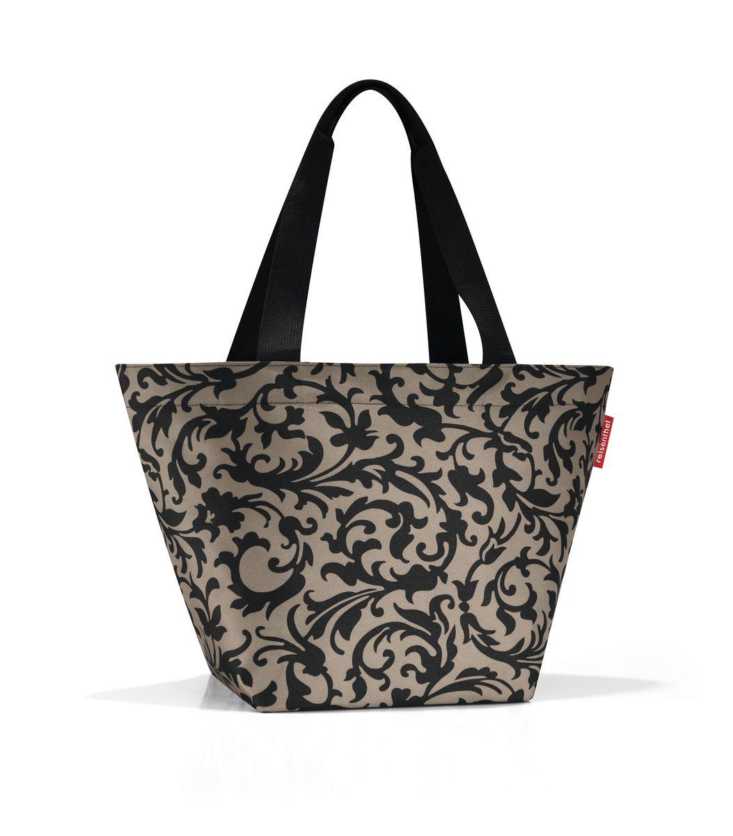 Сумка женская Reisenthel, цвет: черный, бежевый. ZS7027ZS7027Вместительная женская сумка Reisenthel изготовлена из полиэстера с оригинальным принтом. Сумка имеет одно отделение, которое закрывается на застежку-молнию с двумя бегунками. Внутри имеется нашивной карман на застежке-молнии. Изделие оснащено двумя текстильными ручками, которые позволяют носить сумку на плече или на запястье. Сумка Reisenthel станет незаменимой в путешествии, а так же ее можно использовать для похода по магазинам.