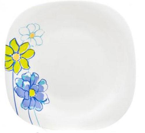 Тарелка десертная Luminarc Fresh Garden Blue, 19 х 19 смH8637Десертная тарелка Luminarc Fresh Garden Blue, изготовленная из ударопрочного стекла, декорирована изображением цветов. Такая тарелка прекрасно подходит как для торжественных случаев, так и для повседневного использования. Идеальна для подачи десертов, пирожных, тортов и многого другого. Она прекрасно оформит стол и станет отличным дополнением к вашей коллекции кухонной посуды. Размер тарелки (по верхнему краю): 19 см х 19 см.