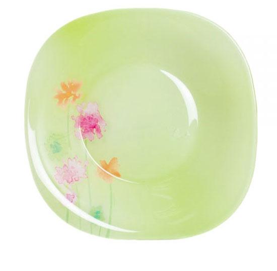 Тарелка глубокая Luminarc Angel Green, 20,5 см х 20,5 смJ1922Глубокая тарелка Luminarc Angel Green выполнена из ударопрочного стекла и украшена изображением цветов. Изделие сочетает в себе изысканный дизайн с максимальной функциональностью. Она прекрасно впишется в интерьер вашей кухни и станет достойным дополнением к кухонному инвентарю. Тарелка Luminarc Angel Green подчеркнет прекрасный вкус хозяйки и станет отличным подарком. Размер тарелки (по верхнему краю): 20,5 см х 20,5 см.