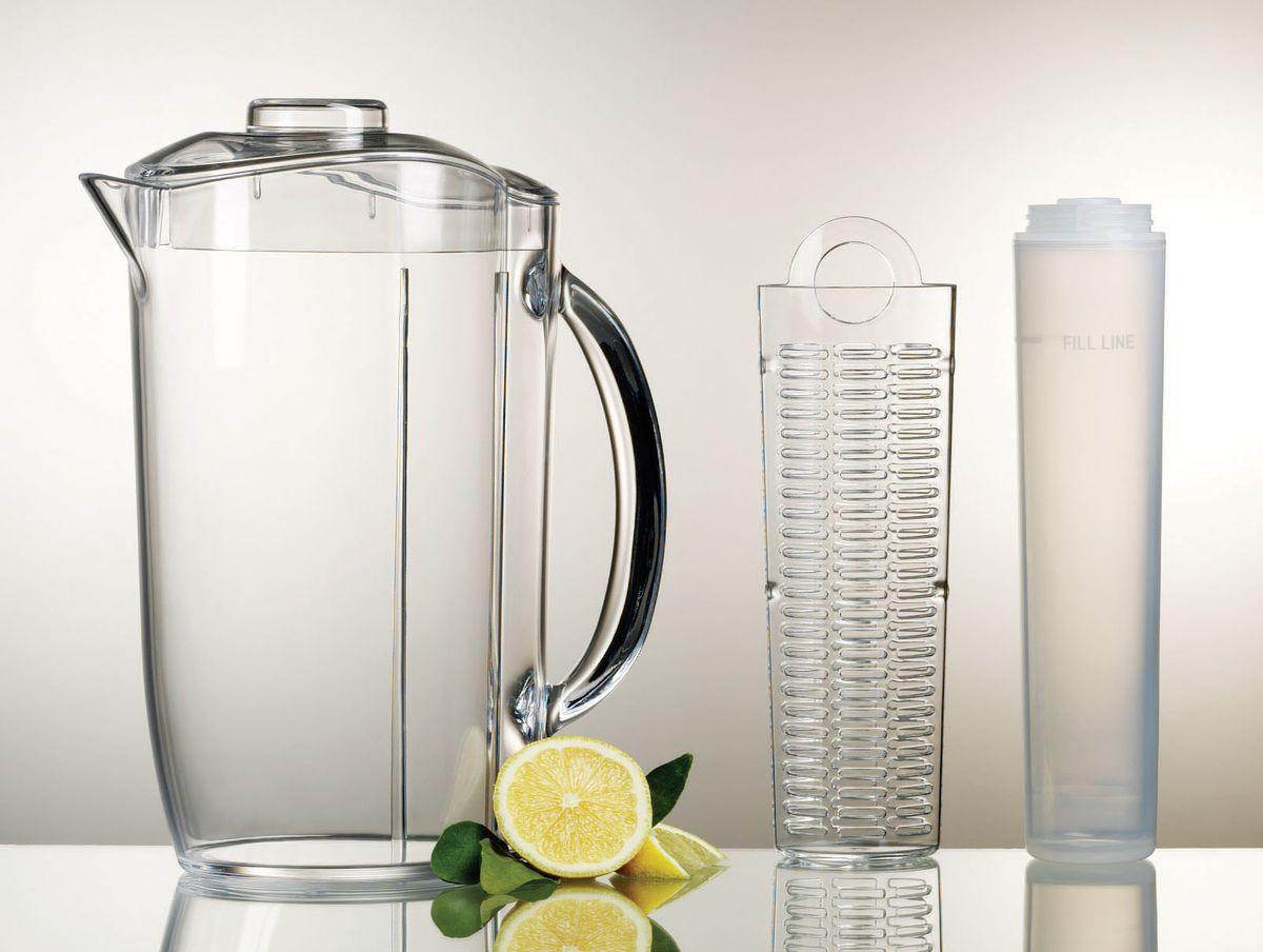 Кувшин для лимонада Prodyne, с касетой для наполнителя и льдаFI-4Кувшин Prodyne выполнен из высококачественного акрила. Изделие имеет съемную колбу, которую вы можете выкрутить из крышки и наполнить резаным лимоном, клубникой или любыми другими фруктами. Нельзя мыть в посудомоечной машине.