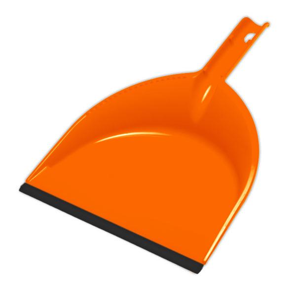 Совок York Клип, с резиновым краем, цвет: оранжевый, черный6104Совок York Клип, выполненный из пластика, предназначен для сбора мусора и пыли при уборке помещений. Он оснащен эргономичной ручкой с петлей, которая позволит повесить изделие на крючок. Благодаря резиновому краю совка, в него легко сметать грязь и мусор. Размер рабочей части: 21 см х 16 см. Длина ручки: 12 см.