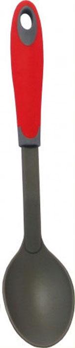 Ложка кулинарная МФК-профит Style Teflon, длина 31,5 смMFK01134Кулинарная ложка МФК-профит Style Teflon, выполненная из нейлона, идеально подходит для перемешивания супов, соусов, заправок. Удобная ручка из полипропилена с резиновым покрытием не позволит выскользнуть ложке из вашей руки. Также есть небольшое отверстие, с помощью которого вы можете повесить изделие у себя на кухне. Можно мыть в посудомоечной машине. Длина ложки: 31,5 см. Размер рабочей поверхности: 10 см х 6,5 см.