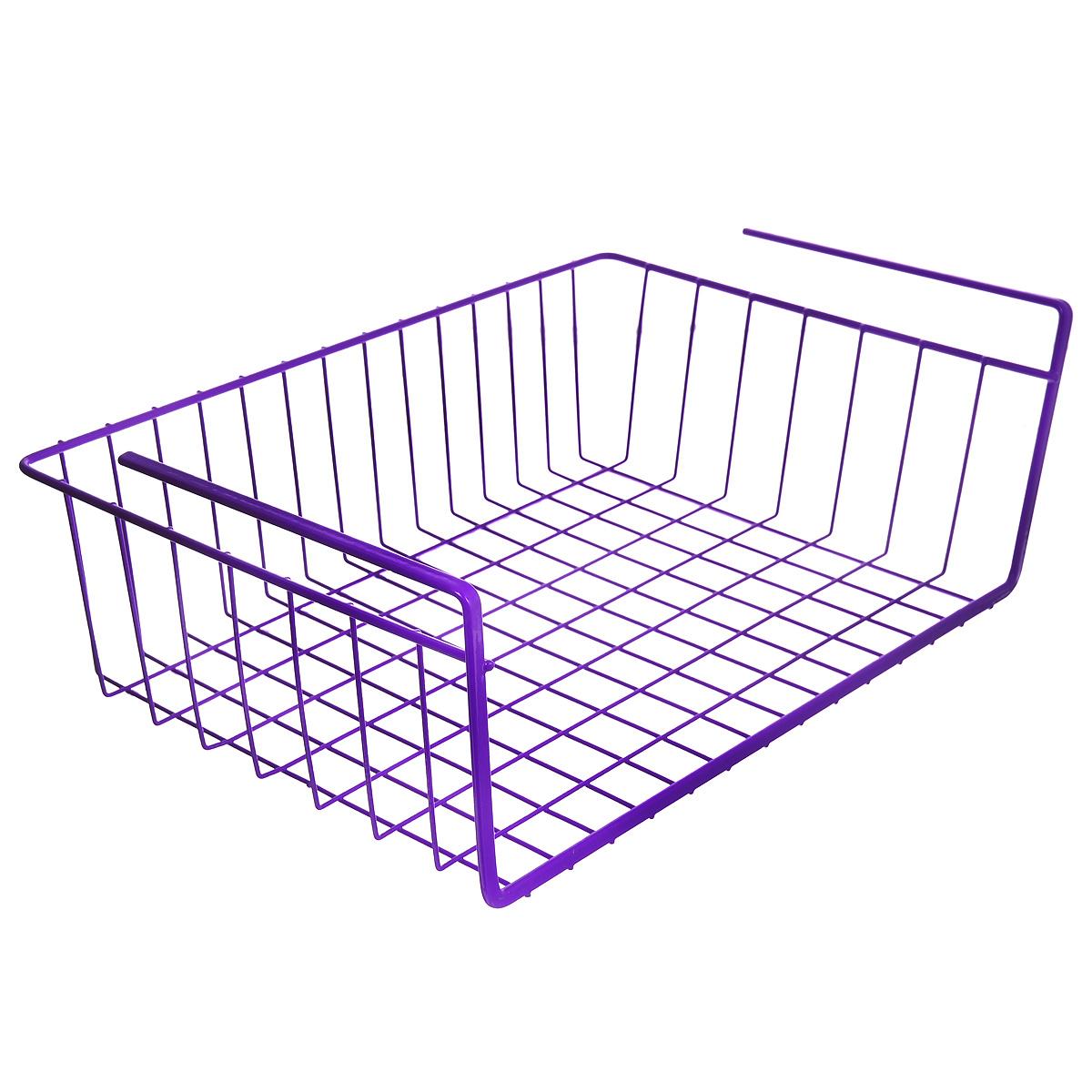 Полка подвесная Metaltex Babatex Color, цвет: фиолетовый, 40 х 26 х 14 см36.38.40/94-528_фиолетовыйПодвесная полка Metaltex Babatex Color, изготовленная из стали с цветным полимерным покрытием, сэкономит место на вашей кухне или в ванной. Современный дизайн делает ее не только практичным, но и стильным домашним аксессуаром. Полка надежно крепиться к поверхности при помощи двух держателей. Такая полка пригодится для хранения различных кухонных или других принадлежностей, которые всегда будут под рукой, и увеличит полезную площадь для хранения различных предметов.