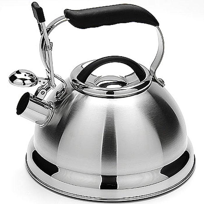Чайник Mayer & Boch, со свистком, 2,7 л. 2021020210Чайник со свистком Mayer & Boch изготовлен из высококачественной нержавеющей стали, что обеспечивает долговечность использования. Капсульное дно обеспечивает равномерный и быстрый нагрев, поэтому вода закипает гораздо быстрее, чем в обычных чайниках. Носик чайника оснащен откидным свистком, звуковой сигнал которого подскажет, когда закипит вода. Чайник оснащен удобной ручкой с черной силиконовой накладкой. Чайник Mayer & Boch - качественное исполнение и стильное решение для вашей кухни. Подходит для всех типов плит, включая индукционные. Можно мыть в посудомоечной машине. Высота чайника (без учета ручки и крышки): 12,5 см. Высота чайника (с учетом ручки и крышки): 22,5 см. Диаметр чайника (по верхнему краю): 10 см.