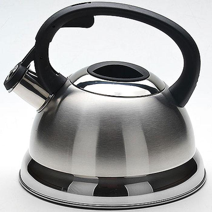 Чайник Mayer & Boch, со свистком, 2,3 л. 2267022670Чайник со свистком Mayer & Boch изготовлен из высококачественной нержавеющей стали, что обеспечивает долговечность использования. Капсульное дно обеспечивает равномерный и быстрый нагрев, поэтому вода закипает гораздо быстрее, чем в обычных чайниках. Носик чайника оснащен откидным свистком, звуковой сигнал которого подскажет, когда закипит вода. Свисток открывается нажатием кнопки на ручке. Чайник оснащен эргономичной пластиковой ручкой. Чайник Mayer & Boch - качественное исполнение и стильное решение для вашей кухни. Подходит для всех типов плит, включая индукционные. Можно мыть в посудомоечной машине. Высота чайника (без учета ручки и крышки): 12,5 см. Высота чайника (с учетом ручки и крышки): 21 см. Диаметр чайника (по верхнему краю): 10 см.