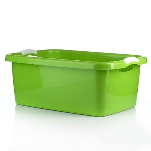 Таз Dunya Plastik Симпатия, цвет: зеленый, белый, 27 л - Dunya Plastik5501_зеленыйПрямоугольный таз Dunya Plastik Симпатия выполнен из прочного пластика. Он предназначен для стирки и хранения разных вещей. По бокам имеются удобные ручки, которые обеспечивают надежный захват. Таз пригодится в любом хозяйстве.
