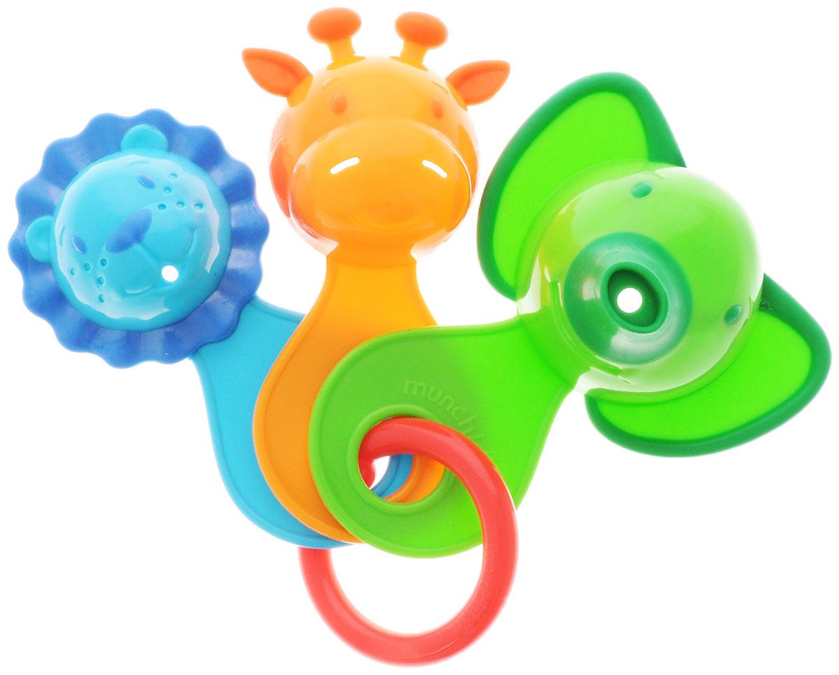 Munchkin Игрушка для ванной Веселые ситечки цвет салатовый11964_салатовыйИгрушка для ванны Munchkin Веселые ситечки непременно понравится вашему ребенку и превратит купание в веселую игру! Игрушка состоит их трех разноцветных ковшиков-животных, соединенных пластиковым кольцом. В каждой игрушке есть маленькие дырочки, через которые так интересно переливать воду. Игрушка развлекает малыша во время купания и в то же время знакомит его с окружающим миром - ребенок с удовольствием будет зачерпывать и просеивать воду, наблюдая, как только что полный ковшик снова становится пуст. Игрушки для ванны способствует развитию воображения, цветового и звукового восприятия, тактильных ощущений и мелкой моторики рук.