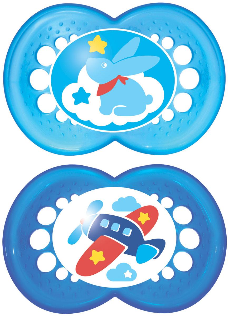 MAM пустышка Original от 6 до 16 месяцев 2 шт цвет синий голубой6036/9Легкая воздушная пустышка и приятным оформлением. Как и все остальные пустышки эта создана с учетом ортодонтических особенностей прикуса ребенка в возрасте от 6 месяцев