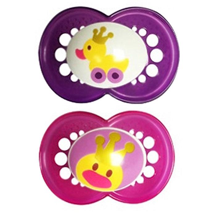 MAM пустышка Original от 6 до 16 месяцев 2 шт цвет розовый фиолетовый6037/8