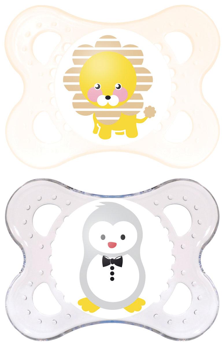 MAM пустышка Original от 0 до 6 месяцев 2 шт цвет серый прозрачный6038/5Симметричность соска этой пустышки из натурального латекса поможет предотвратить неправильный прикус молочных зубов младенца, а форма защитной пластины позволит обеспечить необходимую вентиляцию.