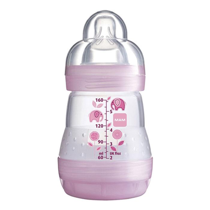 МАМ Бутылочка для кормления Anti-Colic 160 мл цвет розовый