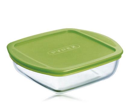 Форма для запекания Pyrex Cook & Store квадрат, 1 л, с крышкой 20x17x5.5см 211P000