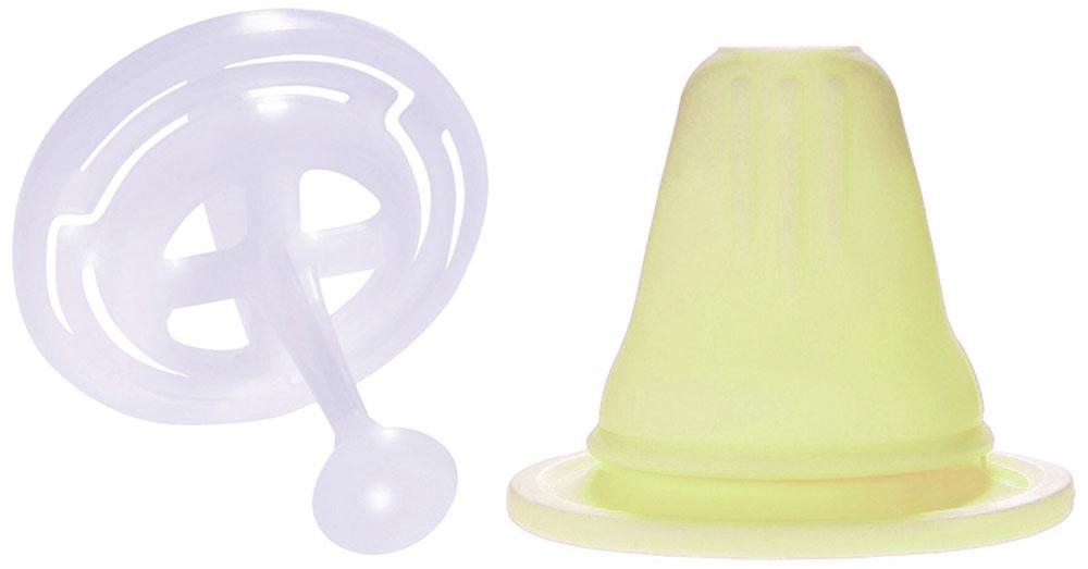 MAM Соска-насадка цвет желтый6547/1Соска-насадка с клапаном (защита от пережимания соски деснами ребенка)