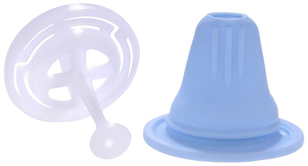 MAM Соска-насадка цвет синий6547/3Соска-насадка с клапаном (защита от пережимания соски деснами ребенка)