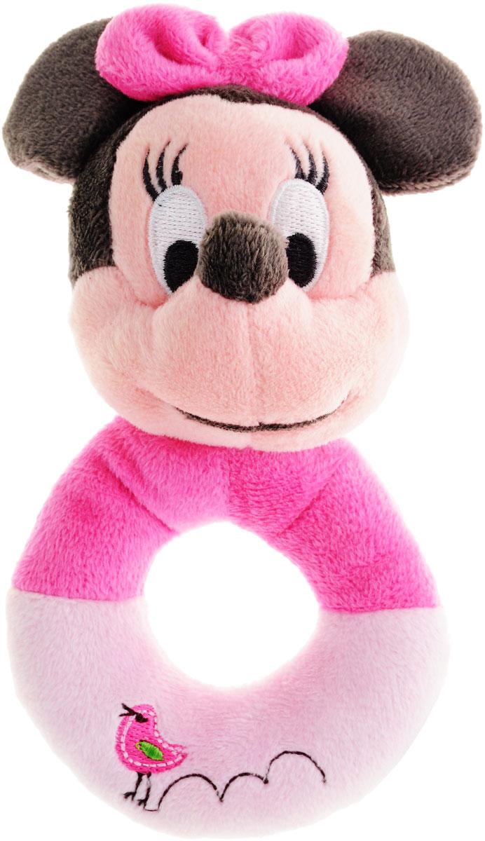 Disney Мягкая игрушка-погремушка Минни 16 см1300228Яркая мягкая игрушка-погремушка Минни привлечет внимание малыша и не позволит ему скучать. Погремушка выполнена из высококачественных гипоаллергенных материалов в виде головы мышки Минни с очаровательной вышитой мордочкой и удобным мягким колечком-держателем. При потряхивании погремушки раздается негромкий приятный звук. Мягкая игрушка-погремушка Минни способствует развитию мышления, координации движений, звукового и цветового восприятия, тактильных ощущений, совершенствует моторику нежных пальчиков малыша.