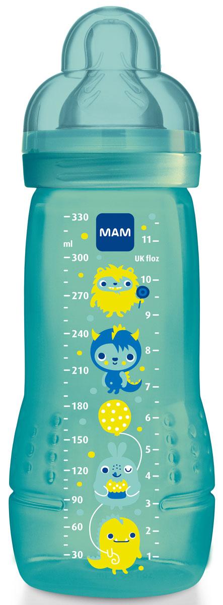 МАМ Бутылочка для кормления 330 мл цвет синий6558/3Высококачественная, устойчивая, вместительная (330 мл) бутылочка с уникальным дизайном и удобной мягкой соской. В составе отсутствуют вредные вещества (см. подробнее - BPA FREE)