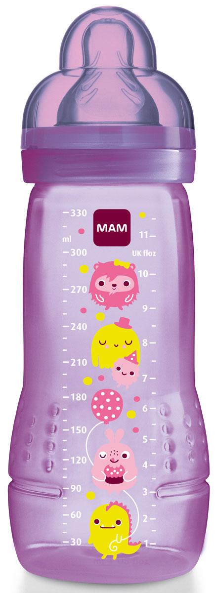 MAM Бутылочка для кормления 330 мл цвет малиновый