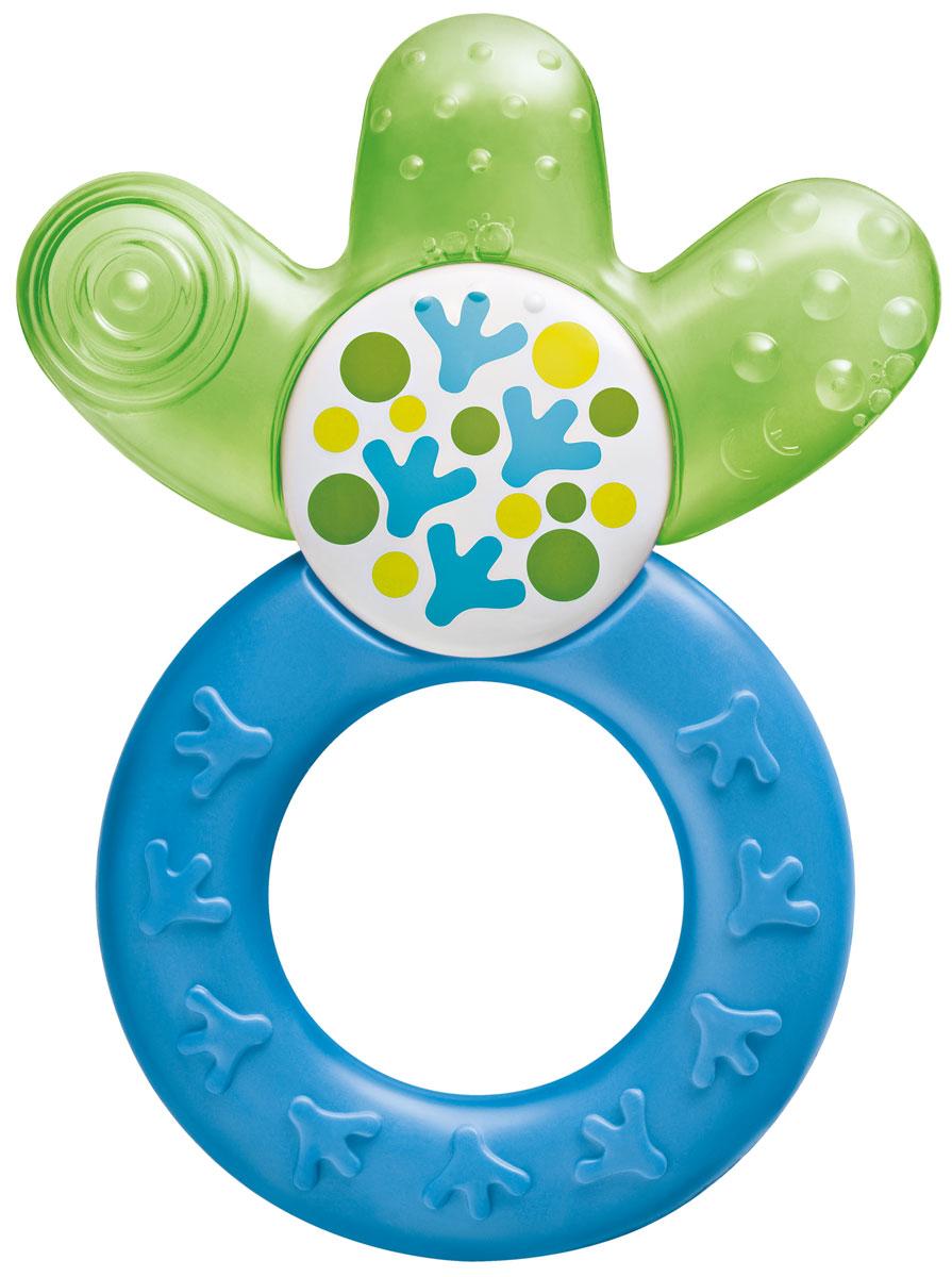 МАМ Прорезыватель Cooler cooling teether охлаждающий цвет сине-зеленый