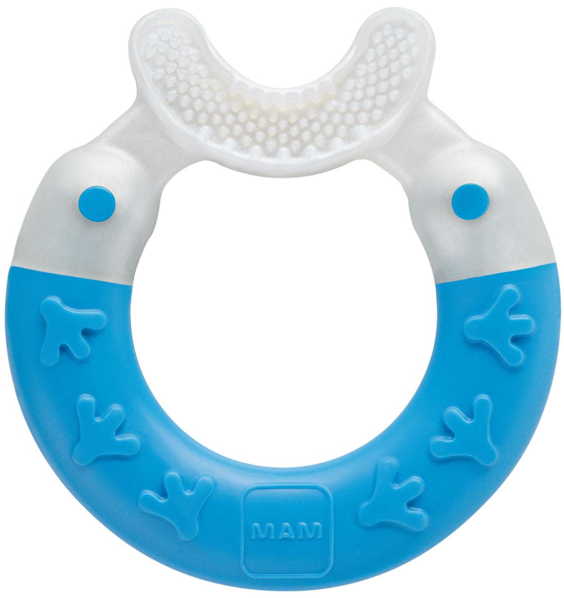 МАМ Прорезыватель Bite & Brush teether цвет бело-синий