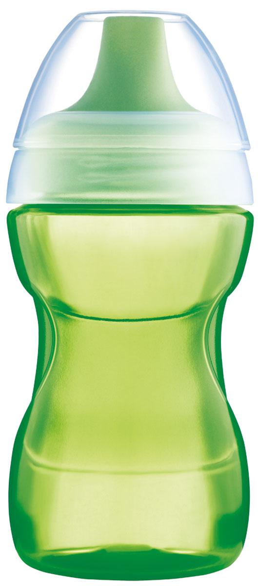 МАМ Поильник 270 мл цвет зеленый6586/1Бутылочка-поилка. Удобно держать. Антипроливайка. 270 мл