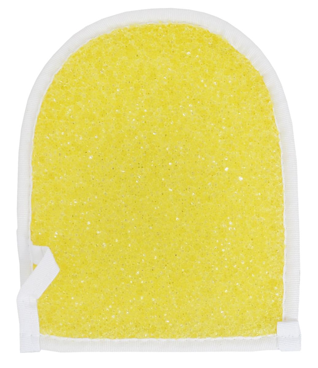 Мочалка массажная Eva Рукавица, цвет: желтыйМ32_желтыйМассажная мочалка Eva Рукавица станет незаменимым аксессуаром ванной комнаты. Отлично пенится и быстро сохнет. Мочалка изготовлена из хлопка, полиэстера и полиуретана, благодаря чему дает эффект массажа. Тонизирует и очищает кожу. Подходит для всех типов кожи. Не вызывает аллергии. Уровень жесткости: средний.