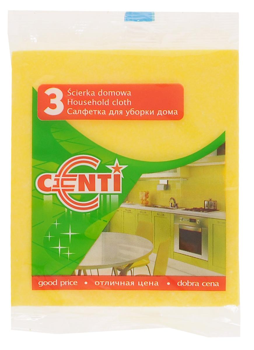Салфетка York Centi, 3 шт2012Универсальная салфетка York Centi предназначена для очистки любых поверхностей: посуды, раковин, кафеля, газовых и электрических плит. Выполнена из вискозы, полиэстера и полипропилена. Салфетка подходит для сухой и влажной уборки.
