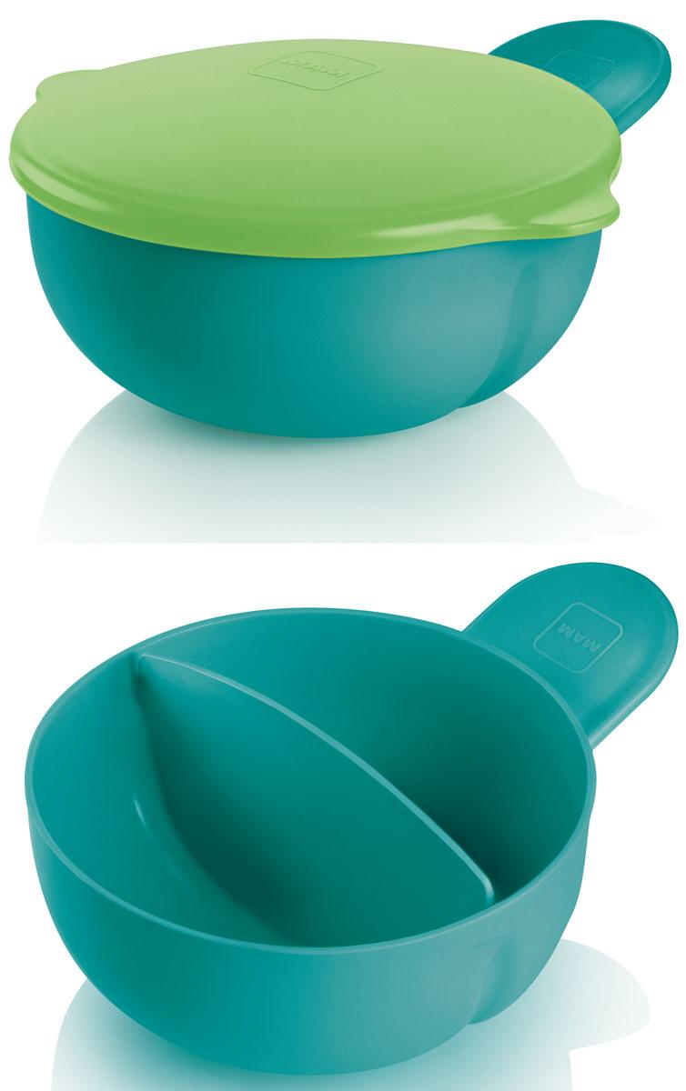 МАМ Тарелка детская с крышкой цвет зеленый