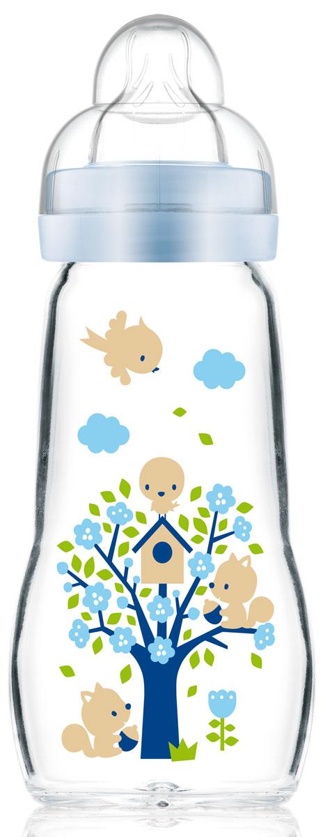 MAM Бутылочка для кормления Feel Good Bottle цвет голубой 260 мл НОВИНКА