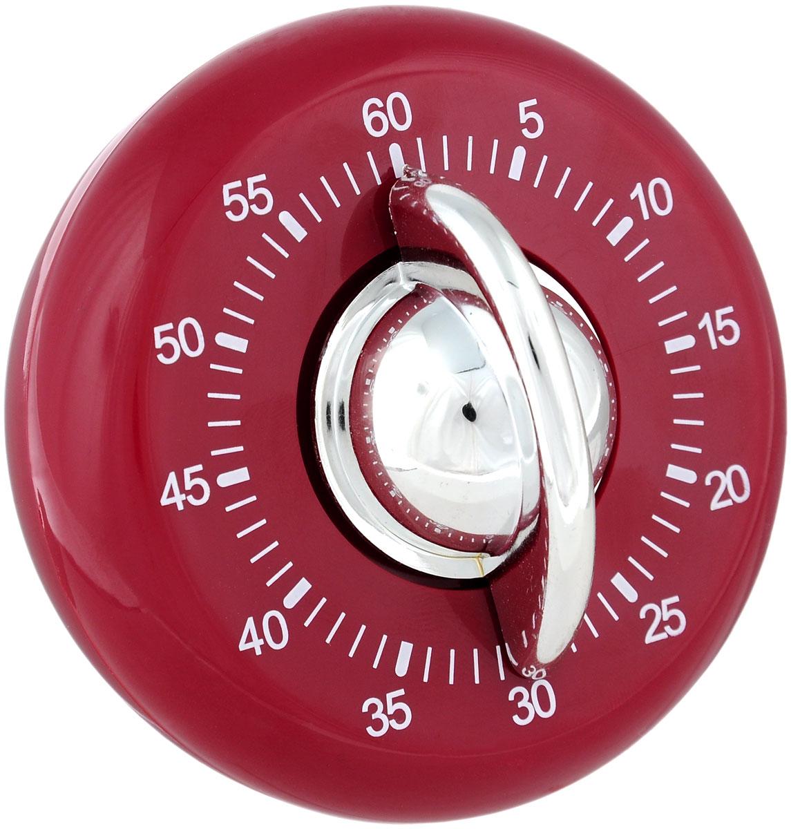 Таймер кухонный Judge, цвет: красный, на 60 минутTC307Кухонный таймер Judge изготовлен из цветного пластика. Максимальное время, на которое вы можете поставить таймер, составляет 60 минут. После того, как время истечет, таймер громко зазвенит. Оригинальный дизайн таймера украсит интерьер любой современной кухни, и теперь вы сможете без труда вскипятить молоко, отварить пельмени или вовремя вынуть из духовки аппетитный пирог.