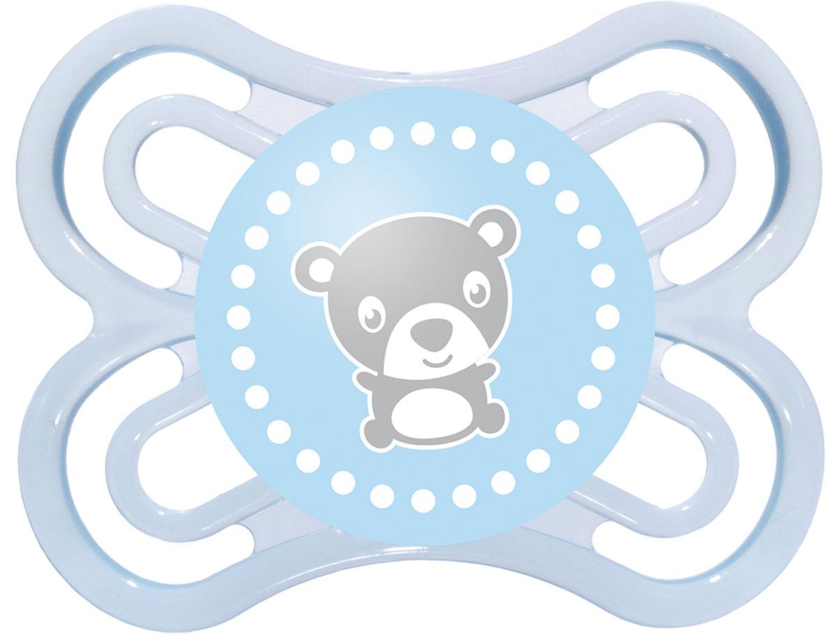 МАМ Пустышка Perfect Мишка цвет голубой