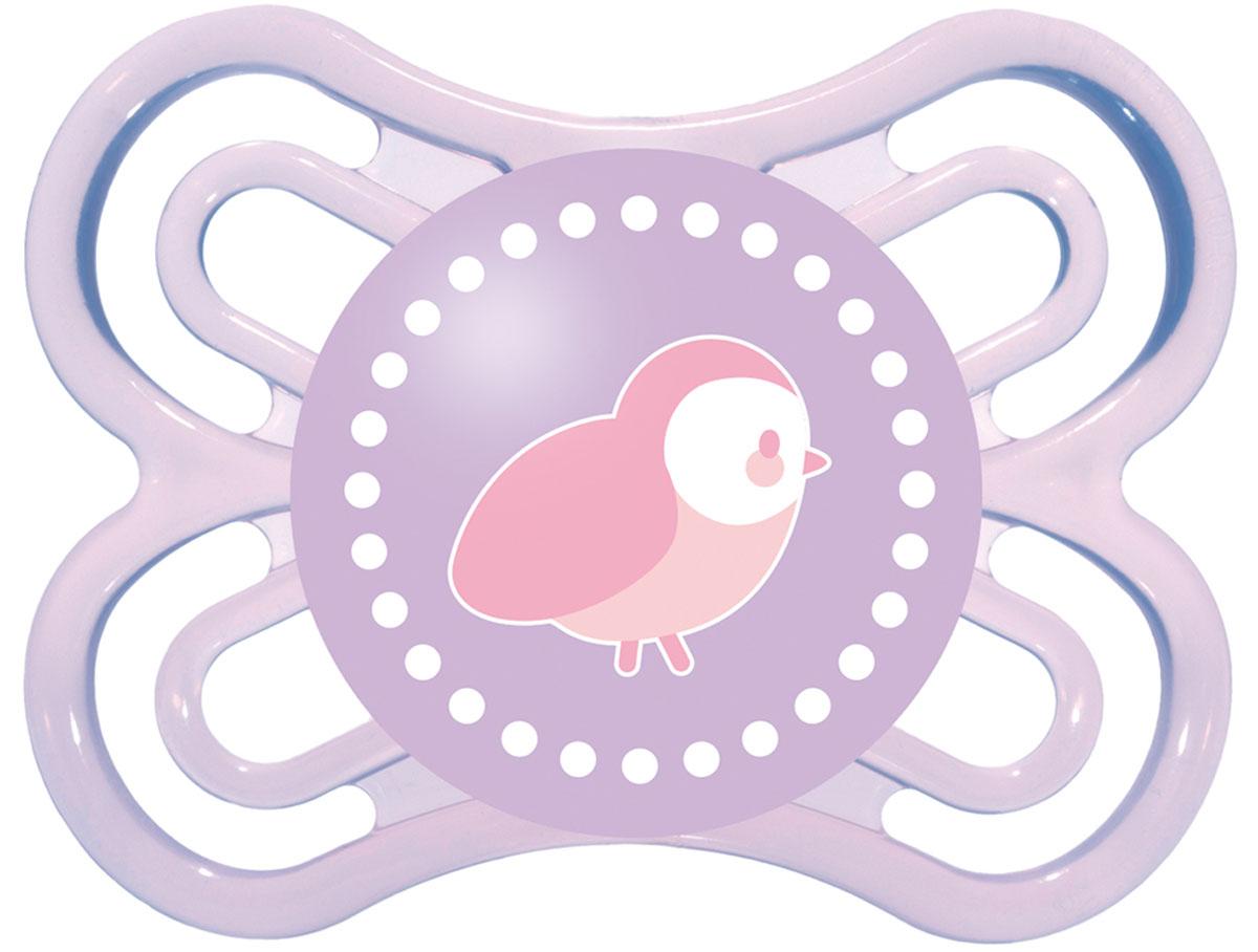 МАМ Пустышка Perfect Птичка цвет фиолетовый