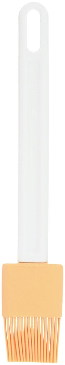 Кисть кондитерская Tescoma Delicia, цвет: желтый, белый, длина 23,5 см630294_желтый, белыйКондитерская кисть Tescoma Delicia станет вашим незаменимым помощником на кухне. Рабочая часть кисточки выполнена из силикона, ручка изготовлена из пластика. Силикон абсолютно безвреден для здоровья, не впитывает запахи, не оставляет пятен, легко моется. Изделие оснащено петелькой для подвешивания. Кисть Tescoma Delicia - практичный и необходимый подарок любой хозяйке! Длина кисти: 23,5 см. Размер рабочей части: 4 см х 3 см.