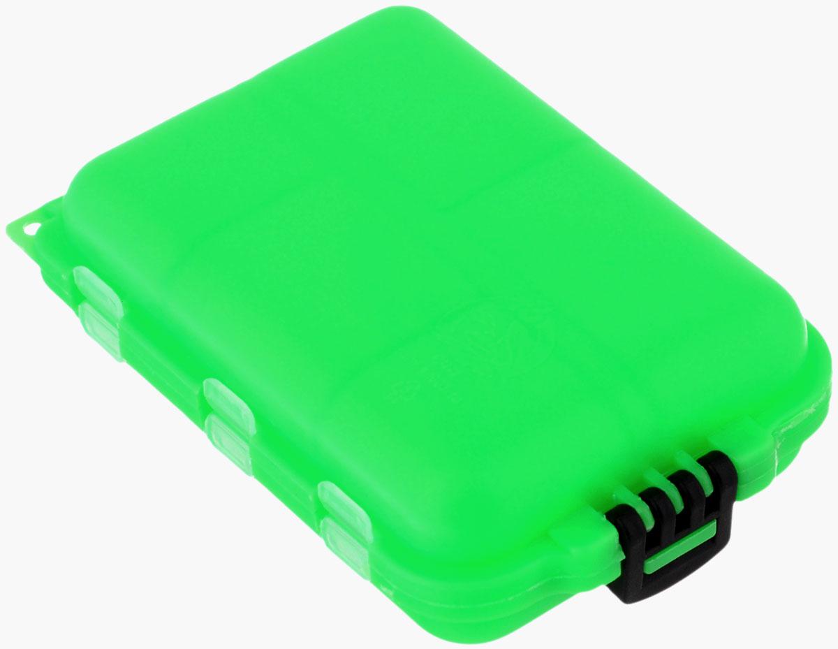 Органайзер для мелочей,, двухсторонний, цвет: зеленый, 9,5 х 6 х 2,5 см679531/8952633_зеленыйУдобная пластиковая коробка Три кита прекрасно подойдет для хранения и транспортировки различных мелочей: рыболовных снастей, мелких бусин и аксессуаров для рукоделия и многого другого. Коробка имеет 10 фиксированных секций, каждая из которых закрывается прозрачной крышечкой. Удобный замок обеспечивает надежное закрывание коробки. Такая коробка поможет хранить мелкие вещи в порядке. Размер секций: 4 х 2,5 см; 3 х 2,5 см; 2,5 х 2,5 см.