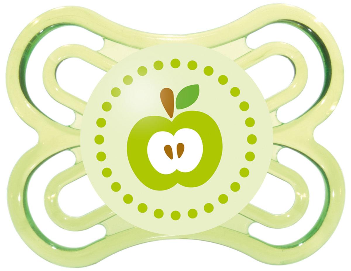 МАМ Пустышка Perfect Яблоко цвет зеленый