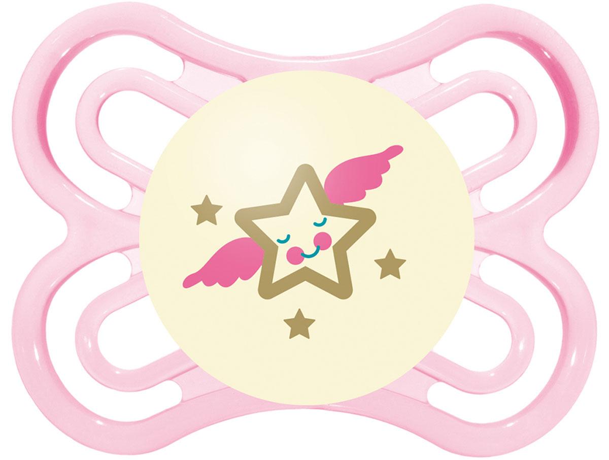 МАМ Пустышка Perfect Night Звезда цвет розовый от 0 до 6 месяцев15739280EXP/3