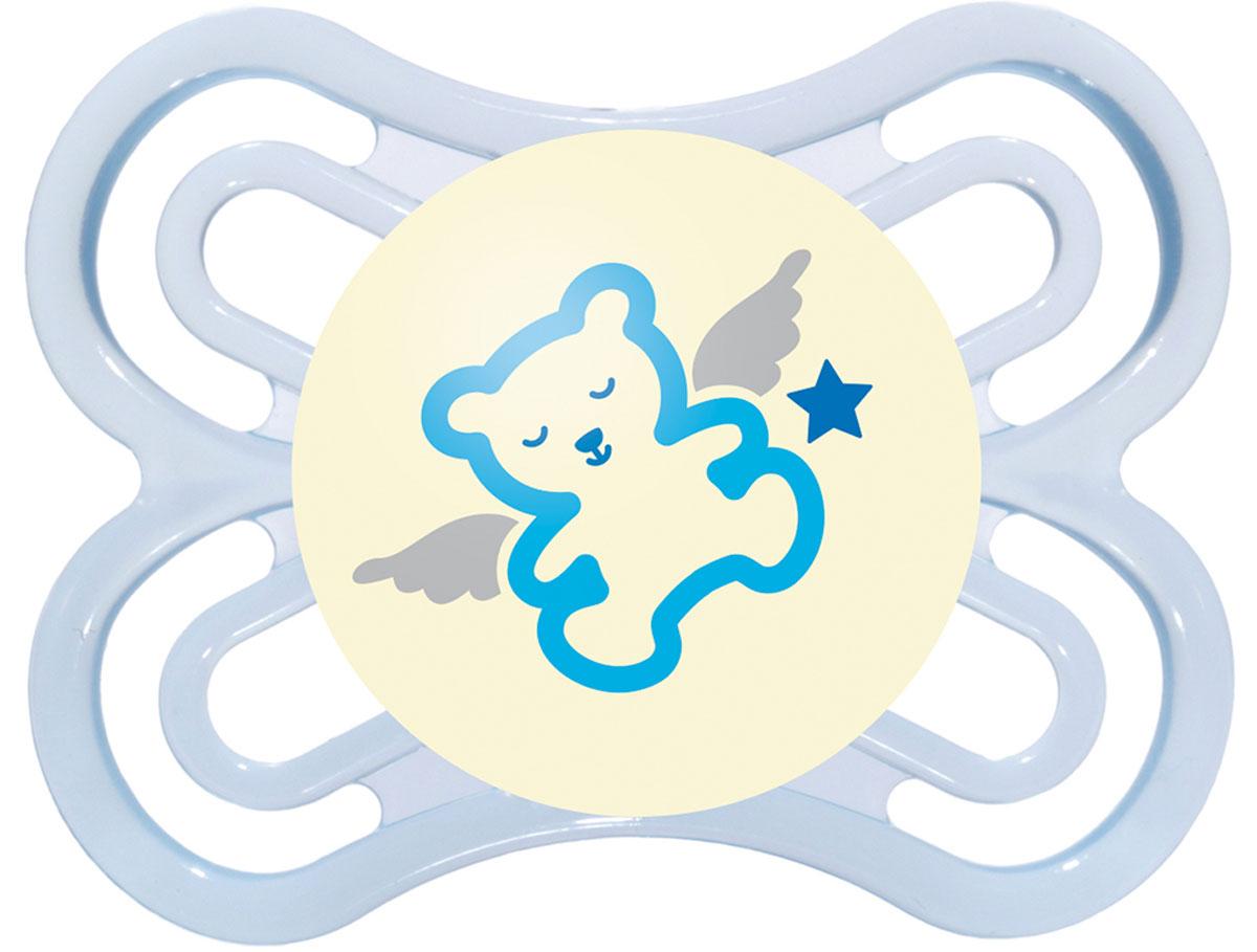 МАМ Пустышка Perfect Night Мишка цвет голубой от 0 до 6 месяцев