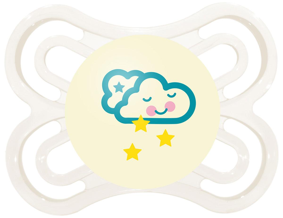 МАМ Пустышка Perfect Night Облако цвет белый от 0 до 6 месяцев